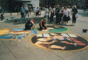 York Student Pavement Artist Street Painter s Rare Yorkshire Crafts Postcard
