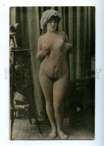 3149697 NUDE Woman after Bath Vintage PHOTO tinted