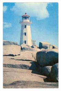 Peggy's Cove Lighthouse, Nova Scotia, Canada,  PU-1970