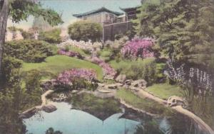Maine Ogunquit Dan Sing Fan Tea House And Gift Shop From The Garden Pool Albe...