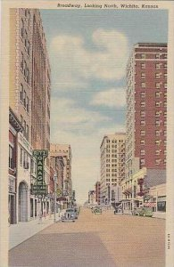Kansas Wichita Broadway Looking North