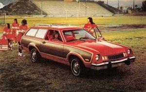1978 PINTO WAGON Football Cheerleaders Champaign IL Car Ad Ford Vintage Postcard