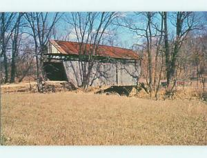 Unused Pre-1980 COVERED BRIDGE Freeport Ohio OH t7983-12