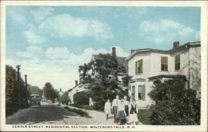 Wolfeboro Falls NH Center St. Homes c1920 Postcard