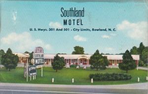North Carolina Rowland Southland Motel 1965