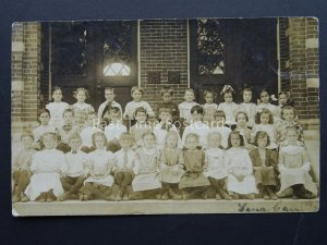 USA School Class Photograph c1908 RP Postcard Postmark SPRINGFIELD MASSACHUSETTS