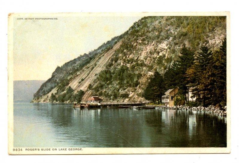 NY - Lake George. Rogers Slide        (crease)