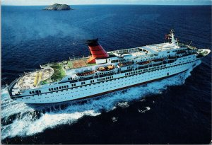 Cunard Princess Cruise Ship at Sea Passenger Boat Unused Postcard C5
