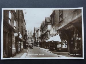Yorkshire YORK Stonegate showing KILVINGTON & Co c1938 RP by Valentine G8463