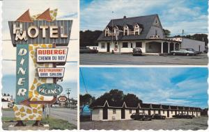 Motel, Restaurant, Bar Salon, Reception, MONTREAL, Quebec, Canada, 40-60´s