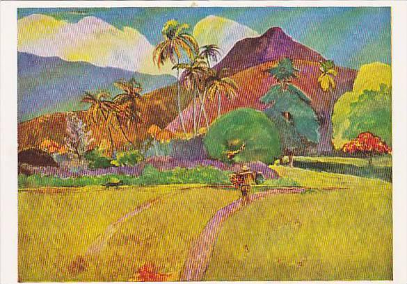 Paul GAUGUIN painting Tahitian Mountains, 50-70s