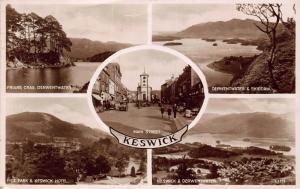 Keswick Fitz Park Hotel Friars Crag Derwentwater Skiddaw Main Street Postcard