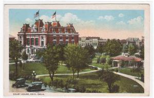 Court House Enid Oklahoma 1920c postcard