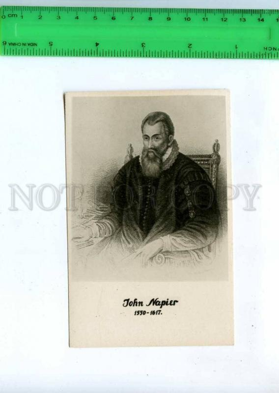 198508 John NAPIER Scottish mathematician astronomer Old 1934