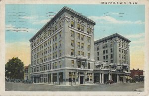PINE BLUFF AR - HOTEL PINES - street view 1920s era / 5th & Main ST ILL THERE