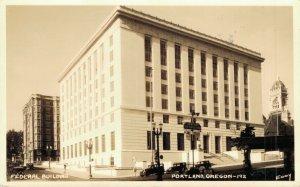 USA Federal Building Portland Oregon Real Photo 1934 04.10