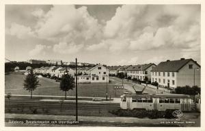 sweden, GÖTEBORG GOTHENBURG, Sanatoriegatan och Utjordsgatan, Tram (1950s) RPPC