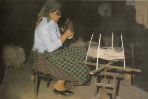 Portugal Women Crafts Wool Sewing Reiling A Skein Postcard