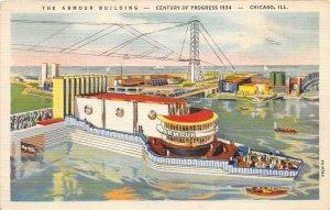 Century Of Progress Chicago Illinois World's Fair 1934 Postcard Armour Building