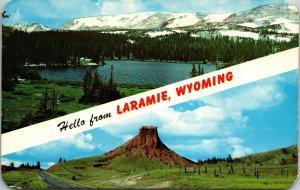 Wyoming WY Laramie Hello Postcard Old Vintage Card View Standard Souvenir Postal