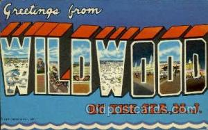 Wildwood, NJ, New Jersy, USA Large Letter Towns  Postcard Postcards  Wildwood...