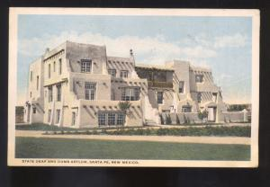 SANTA FE NEW MEXICO STATE DEAF AND DUMB ASYLUM VINTAGE POSTCARD N.M