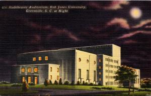 South Carolina Greenville Rodeheaver Auditorium At Night Bob Jones University...
