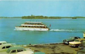 Clayton NewYork~American Adonis Boat by Calumet Island on St Lawrence River~1957