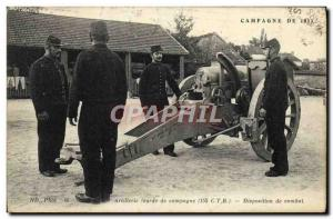 Old Postcard From 1914 Campaign Army Artillery Campaign combat Layout