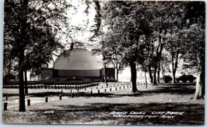 Worthington, Minnesota RPPC Real Photo Postcard Band Shell, City Park c1940s