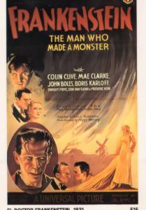 El Doctor Frankenstein Boris Karloff Spanish 1931 Film Poster Postcard