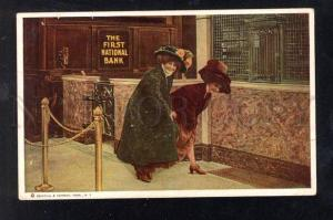 029778 USA Advertising Ladies in THE FIRST NATIONAL BANK OLD