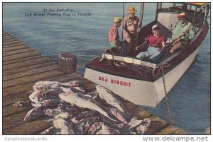Florida Day's Catch On Sea Biscuit At The End Of A Salt Water Fishing Tr...