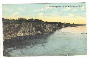 View Along The Cliff Walk, Newport, Rhode Island, PU-1904
