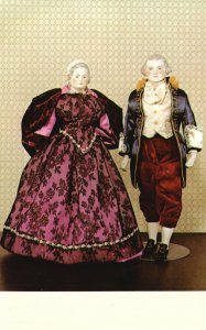 Vintage Postcard The Embers Doll Museum George & Martha Washington Collections