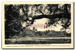 Old Postcard Cambodia Ruins of Angkor Vath Temple