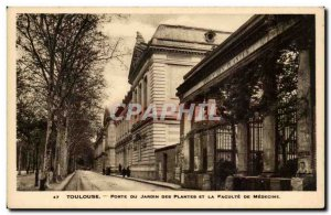 Toulouse - Gate Garden Plants are and the Faculty of Medicine Old Postcard