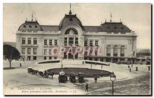 Old Postcard Trouville Casino main entrance