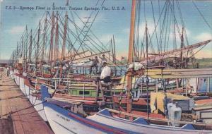 Florida Tarpon Springs Sponge Feel In Harbor 1941