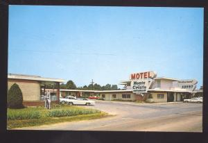 GRENADA MISSISSIPPI MONTE CRISTO MOTEL 1960'S CARS ADVERTISING POSTCARD