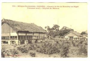 Guniea, 00-10s ; Chemin de fer de Konakry au Niger, Travaux neufs.-Hopital de...