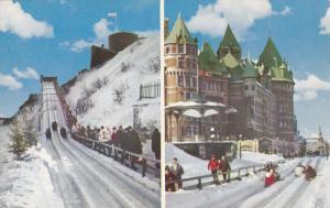 Plaisirs d'hiver , Dufferin Terrace , Quebec , Canada , 60-70s