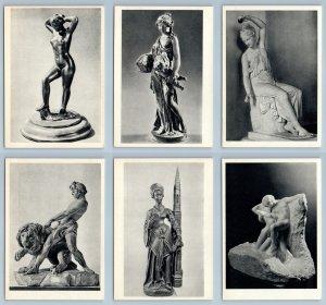 EUROPEAN SCULPTURE Michelangelo Rodin Fine Art Semi Nude Rare SET 20 Postcards