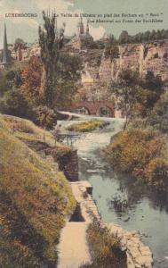 La Vallee De l'Alzette Au Pied Des Rochers Du Bock, Bridge, Luxembourg, 190...