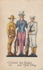 Uncle Sam , Soldier & Sailor , 1917