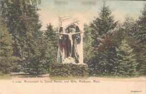 USA Monument to David Nerins and Wife Methuen Mass 02.58