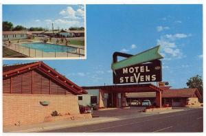 (2) Diff. Carlsbad, New Mexico, Views of Motel Stevens & Silver Spur Restaurant