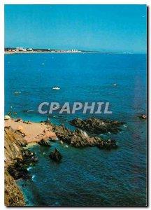 Modern Postcard Argeles sur Mer Racou Argeles The rocks background