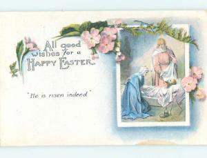 Pre-Linen easter religious WOMEN PUT JESUS BODY INTO THE TOMB hr1655