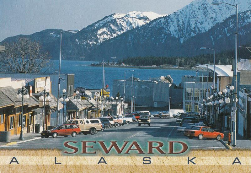 ALASKA MAIN STREET IN DOWNTOWN SEWARD